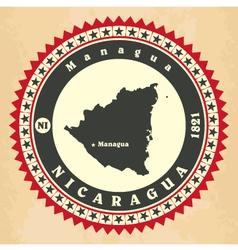 Vintage label-sticker cards of Nicaragua vector image vector image