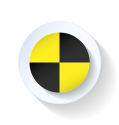 Warning flat icon vector image