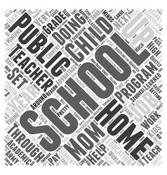 Where the Teacher is Mom Word Cloud Concept vector image vector image