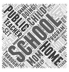 Where the teacher is mom word cloud concept vector