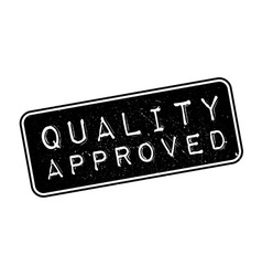 Quality Approved rubber stamp vector image