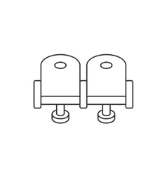 Cinema chair line icon vector