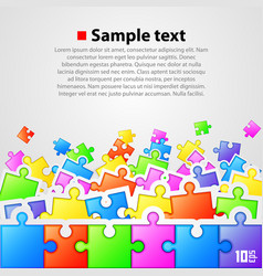 Puzzle background banner vector