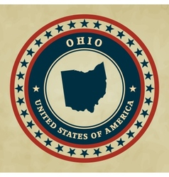 Vintage label ohio vector