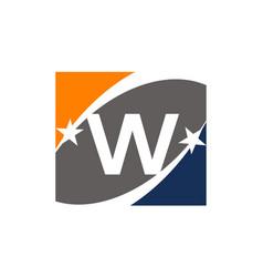 Success solution letter w vector