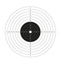 Blank gun target paper shooting target blank vector