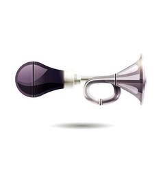 Car horn isolated vector