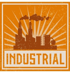 Construction industrial building icon vector