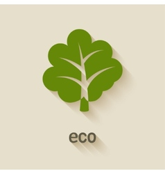 Green tree eco symbol vector