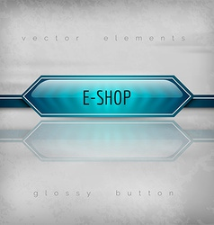 E-shop button vector