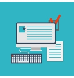 Flat concept of documents for business - vector