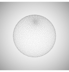 3d sphere of particles vector