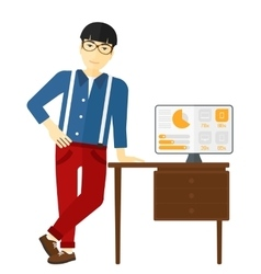 Cheerful office clerk vector