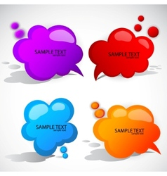 Colorful cloud bubble for speech vector