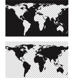 Map with imitation of transparent background vector