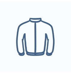 Biker jacket sketch icon vector