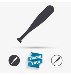 Baseball bat sign icon sport symbol vector