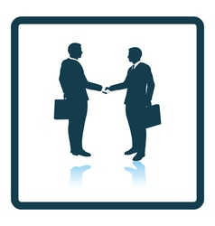 Icon of meeting businessmen vector