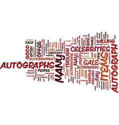 Autographs for sale text background word cloud vector