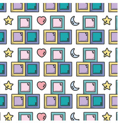 Baby games element to child learn background vector