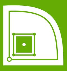 Baseball field icon green vector