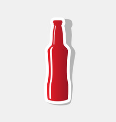 beer bottle sign new year reddish icon vector image vector image