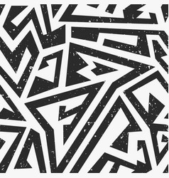 black maze seamless pattern with grunge effect vector image vector image