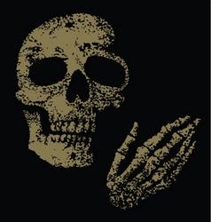 boney fingers vector image