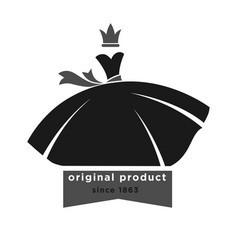 boutique with original product since 1863 vector image