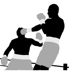 boxing champion vector image