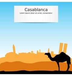 Casablanca vector image vector image