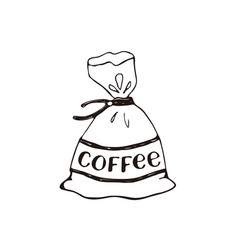 Coffee bag icon vector