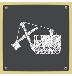 color flat heavy machine icon vector image vector image