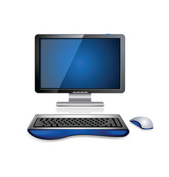 computer workstation vector image vector image