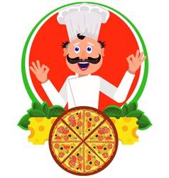 Cook italian vector