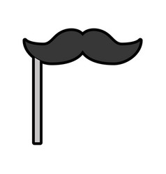 cute booth prop moustache cartoon vector image vector image