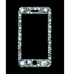 Diamond smartphone vector