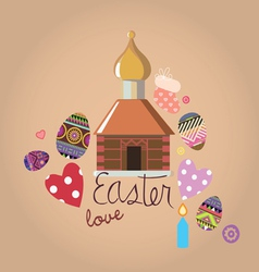 easter with a set of design elements vector image vector image