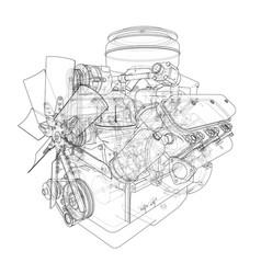 engine sketch vector image