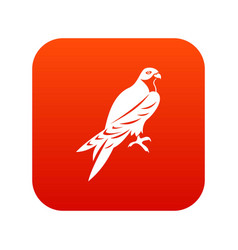 Falcon icon digital red vector