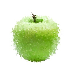 Green apple of blots isolated on white vector image vector image