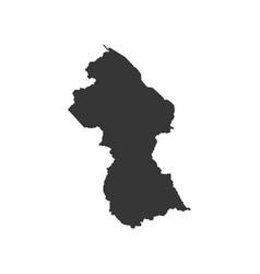 Guyana map silhouette vector