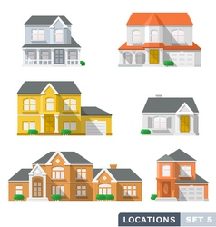 House icon set 1 vector image