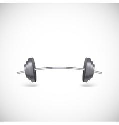 Metal barbell vector