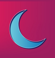 Moon sign blue 3d printed vector