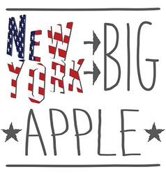 New york big apple typography poster t-shirt vector