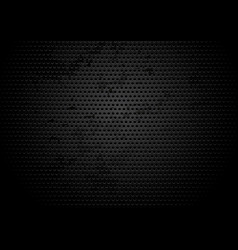Perforated black grungy metallic plate background vector