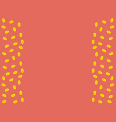Pink background with golden coins and space for vector