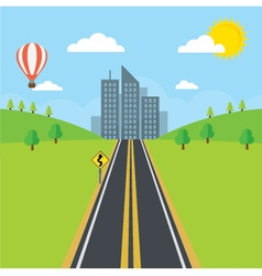 Road and City vector image