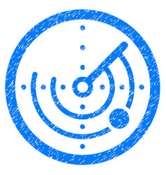 Round radar grunge icon vector